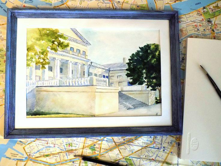 """The Yusupov Palace. Petersburg"" Watercolor 20*29. #Watercolor Repina N."