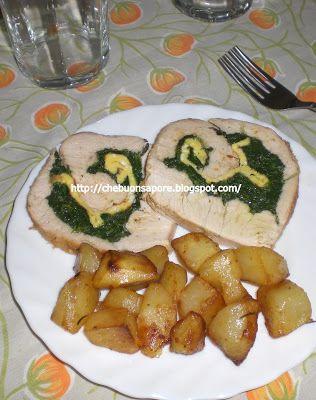 Che Buon Sapore: Rollata di tacchino con spinaci e frittata e contorno di patate