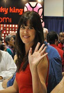 Actress Sarah Lancaster...