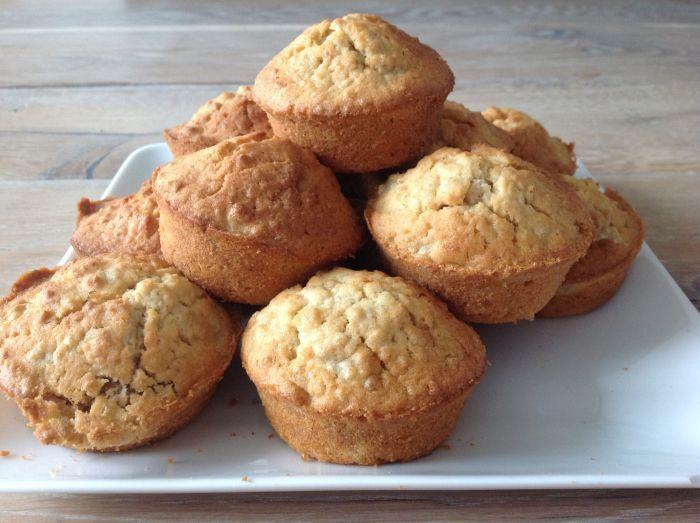 Recept gezonde muffins met Griekse Yoghurt en Havermout