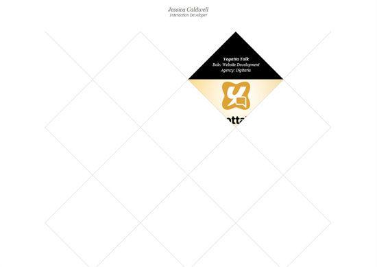 Minimalist portfolio website design example: Jessica Caldwell