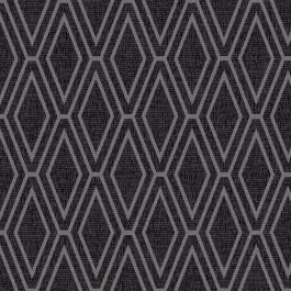 Opulent Shimmer Diamond Geometric Wallpaper - Black and Silver - Holden Decor 65382 This stylish Opulent Shimmer Diamond Geometric Wallpaper features a diamond shaped geometric pattern with contrasting finishes for added depth and interest. The design is made up of a metallic silver overlaid on to a slightly textured black and charcoal highlighted background. Ideal for reception rooms, bedrooms and hallways, use this wallpaper to create a feature wall or to decorate an entire room.  Perfect…