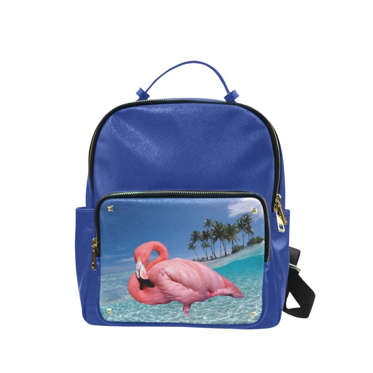 Flamingo and Palms Campus Backpack Large #FREEShipping #artsadd #lbackpacks #flamingos