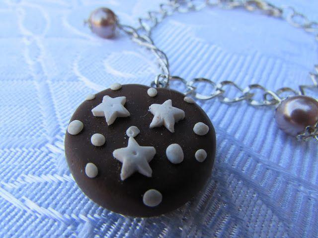 il gioiello pazzo: Bracciale fimo pan di stelle