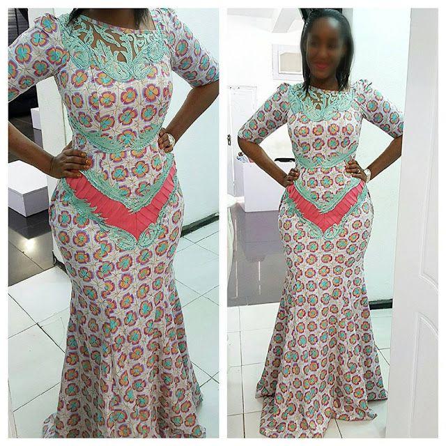 Beautiful Ankara Gown Style http://www.dezangozone.com/2015/10/beautiful-ankara-gown-style-for-ladies.html DeZango Fashion Zone ~African fashion, Ankara, kitenge, African women dresses, African prints, African men's fashion, Nigerian style, Ghanaian fashion ~DKK