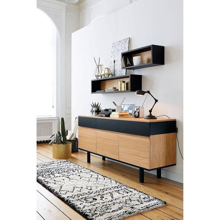 buffet noir et blanc pas cher elegant buffet haut elm cm blanc noir plus que articles with. Black Bedroom Furniture Sets. Home Design Ideas
