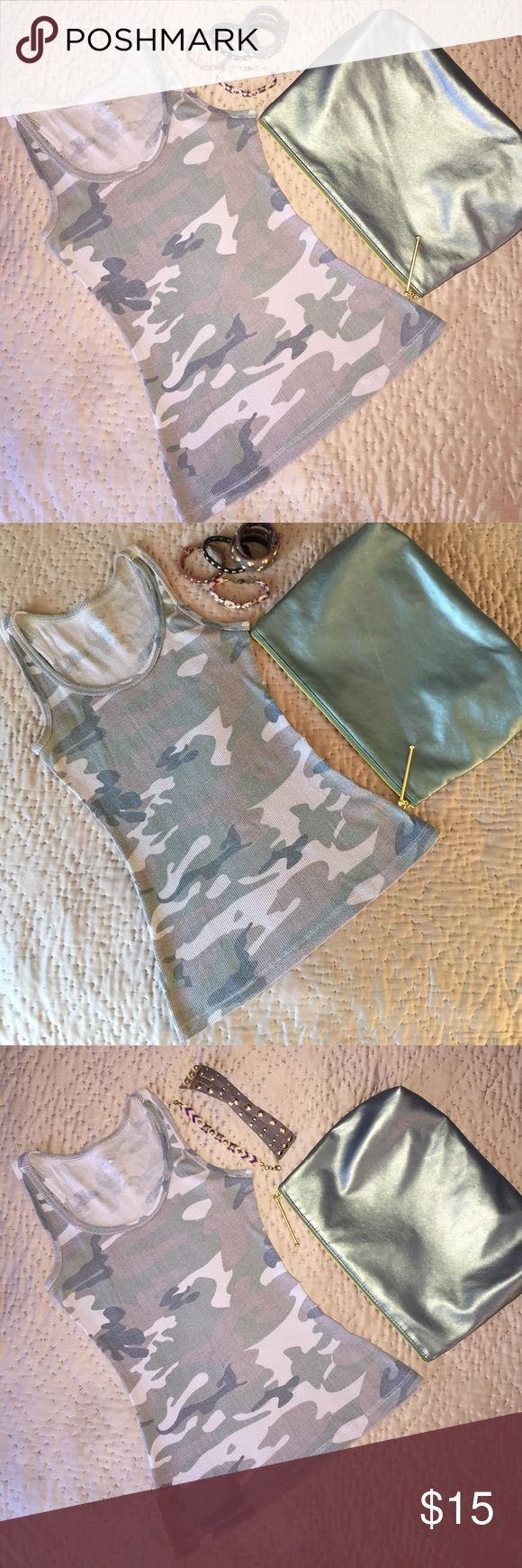 CAMO TANK TOP MOSSIMO:  Women's Size XS Ribbed Tank Mossimo Supply Co Tops Tank Tops