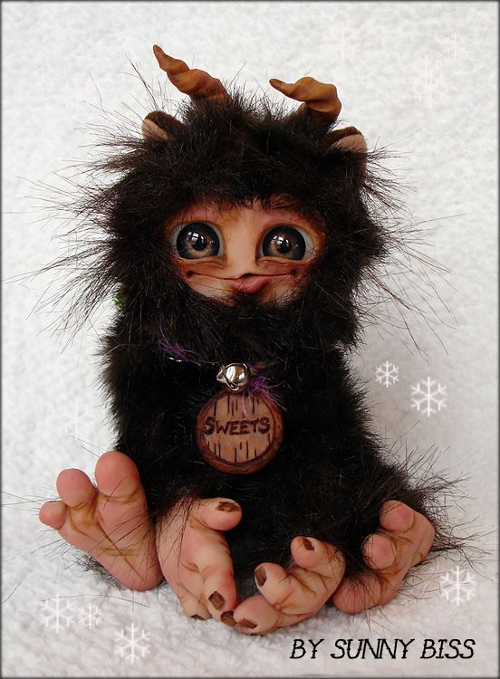 """""""Sweets"""" A one of a kind monster by Sunny Biss. http://www.sunnybiss.com"""