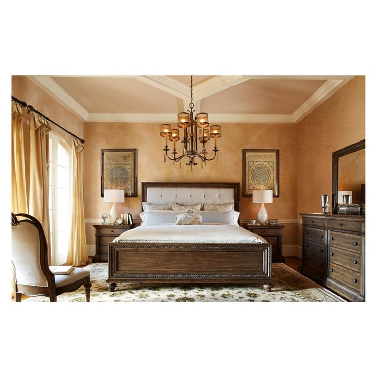 Legacy Classic Renaissance Upholstered Panel Bed Queen Discount Furniture  at Hickory Park Furniture Galleries52 best Statement Bedrooms images on Pinterest   Bedroom sets  . El Dorado Bedroom Sets. Home Design Ideas