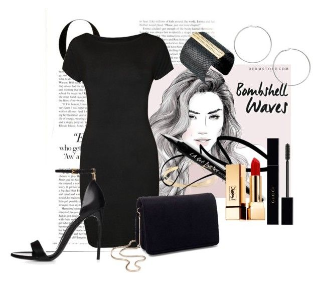 """""""unitiled No.   300"""" by catherine-megan-jones on Polyvore featuring Vanity Fair, WearAll, Lana Jewelry, Miss Selfridge, Gucci, Yves Saint Laurent and The Sak"""