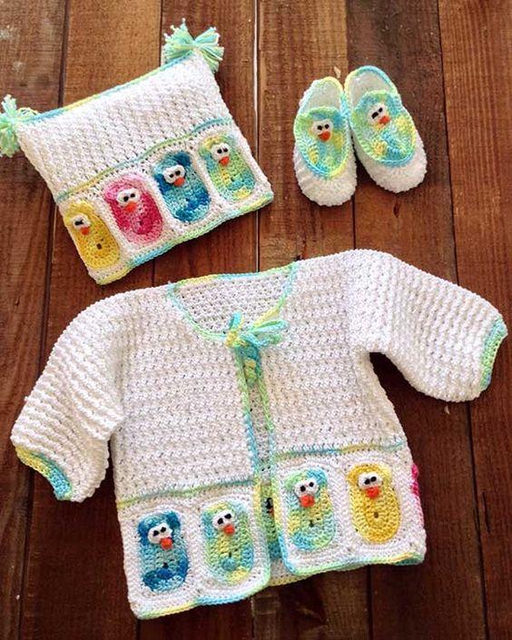 Baby Owl Layette Crochet Pattern ༺✿Teresa Restegui http://www.pinterest.com/teretegui/✿༻: