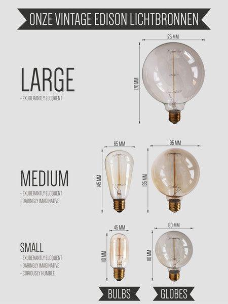 Onze vintage lichtbronnen!