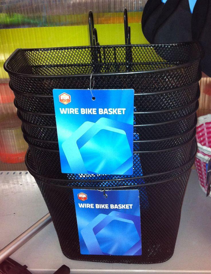 Bike Baskets = cheap retro-industrial wardrobe storage.