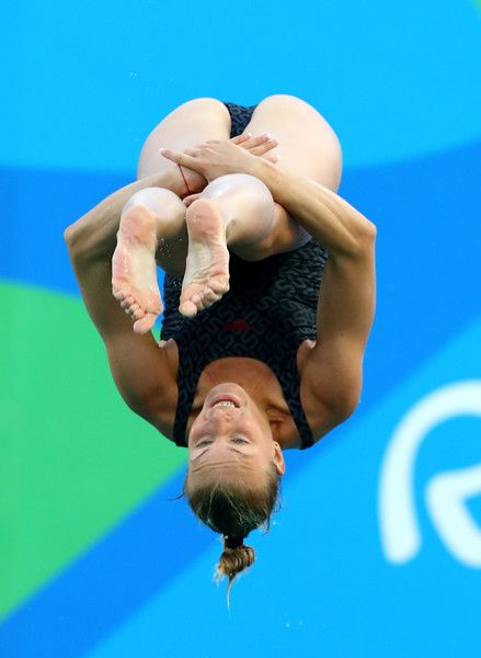 Olena Feborova of the Ukraine competes in the Women's Diving 3m Springboard…