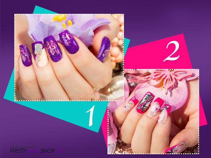 #nailart   #lila   #pink   #nails   1 oder 2. Was bevorzugt Ihr?  Eure Nina