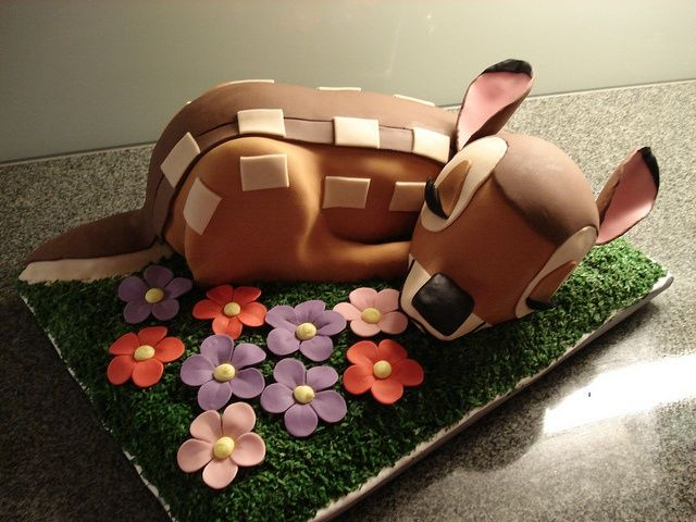 Bambi Cake by Mannuli  Ramos I love this!!