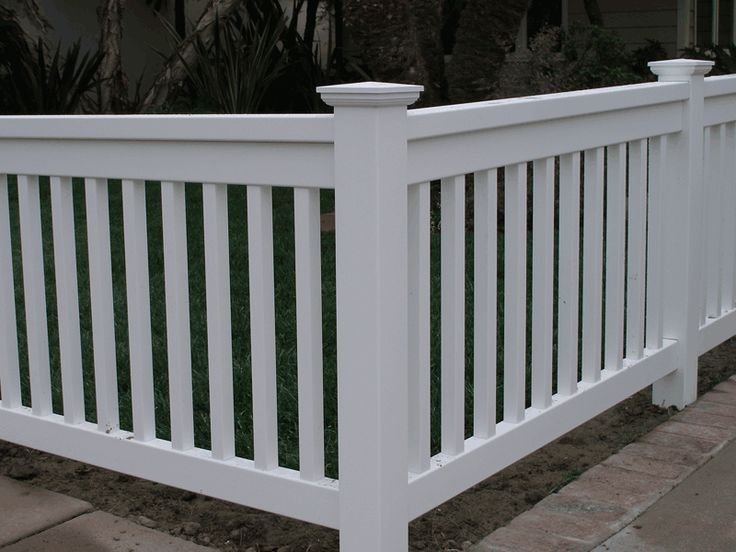 white fence with bottom and top rail???