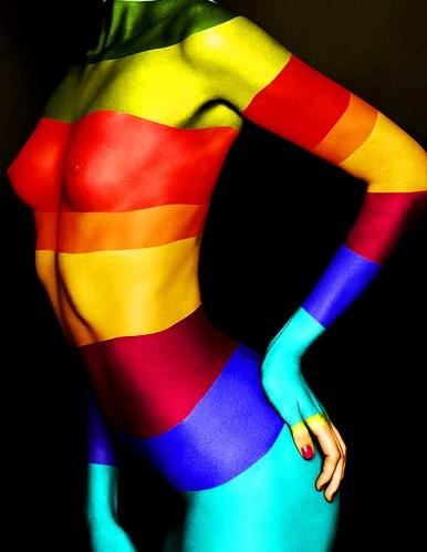 Rainbow colors ❖de l'arc-en-ciel❖❶Toni Kami Colorful body paint