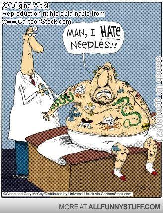 """Man, I hate needles!!"""