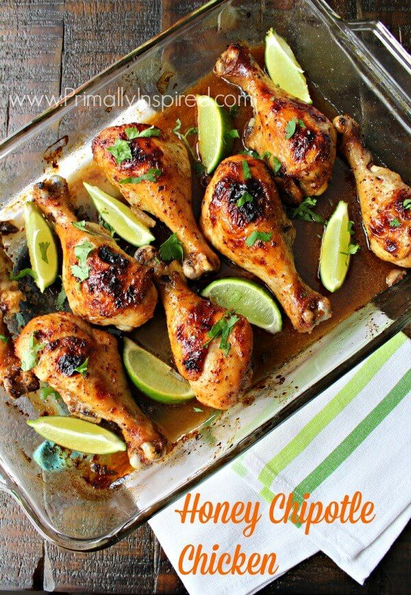 You've got to try this Honey Chipotle Chicken recipe! It's slightly sweet & slightly spicy. Also learn how to prep it for an easy & healthy freezer meal!