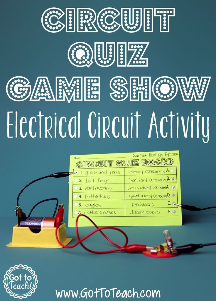 Circuit quiz game show activity.  Check out this blog post for a fun and engaging activity that your students will love! FREE game board!