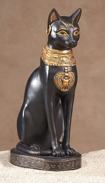 Egyptian cat, beautiful carved detail