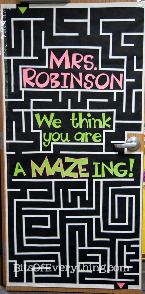 Bits Of Everything: Teacher Appreciation Door...this would also be great with the title: Mrs. Robinson....Our Class is amazing!
