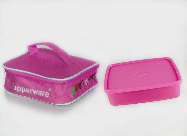 Paket Pink Tupperware (Large Square Away + Tas)