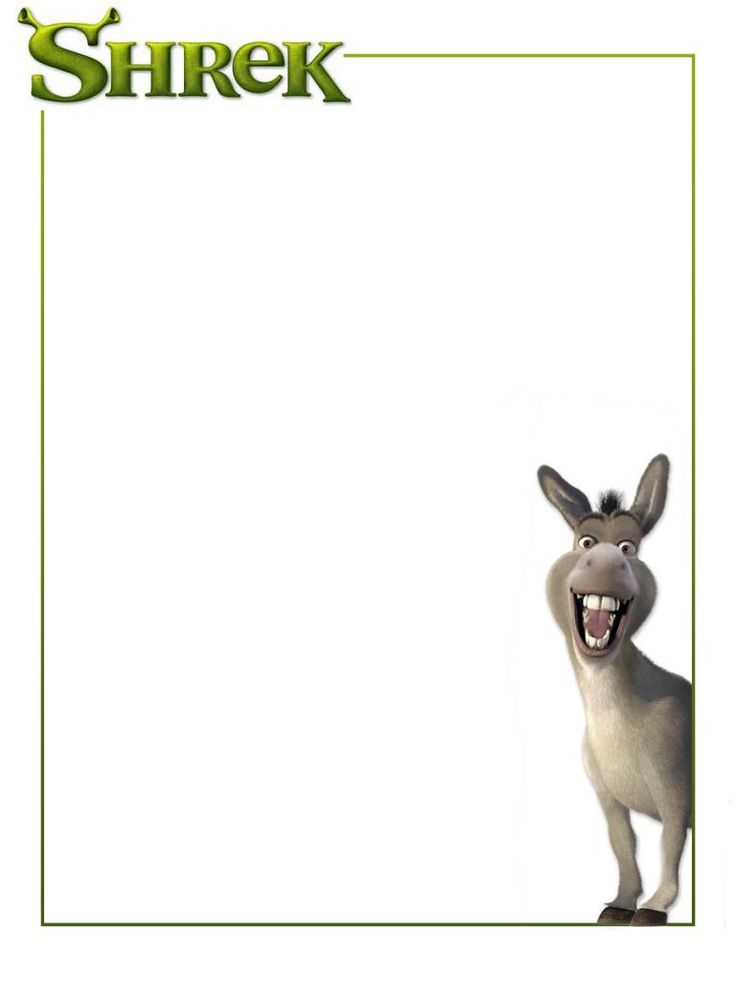 "Shrek - Donkey - Project Life Journal Card - Scrapbooking ~~~~~~~~~ Size: 3x4"" @ 300 dpi. This card is **Personal use only - NOT for sale/resale** Logo/clipart belong to Universal Studios *** Click through to photobucket for more versions of this card ***"