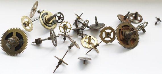 Watch Parts Mixture Lot Vintage  AntiqueGears Wheels by emymade, $15.00