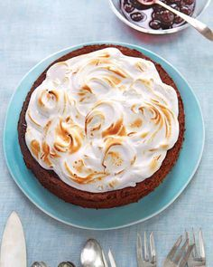 Flourless Chocolate-Almond Torte with Cherry Preserves and Kirsch Meringue Recipe