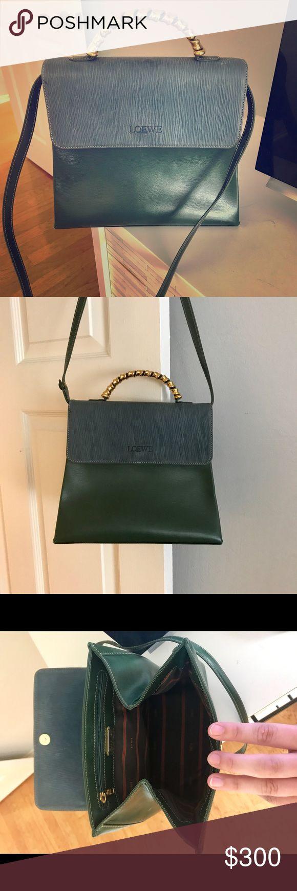 Loewe Shoulder Bag Loewe Hunter Green Shoulder Bag with Handle. Bought in 2015 at Neiman Marcus. In great condition! Loewe Bags Shoulder Bags