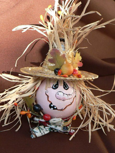 Light Bulb Scarecrow Fall Decoration Thanksgiving