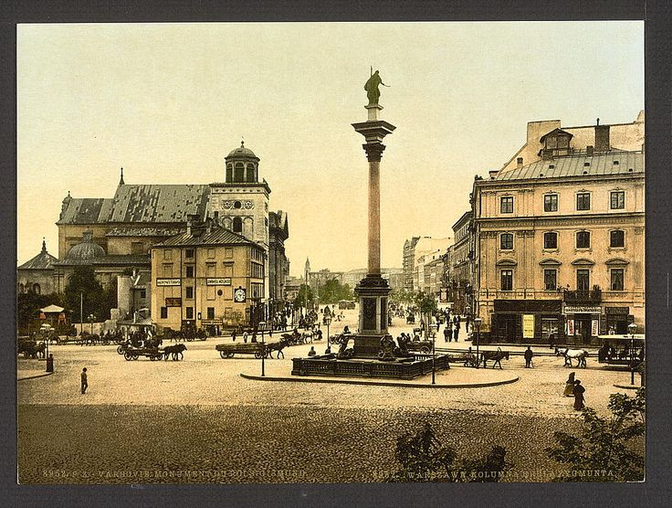 King Sigismund's monument, Warsaw, Poland. 1900. Source: U.S. Library of Congress.