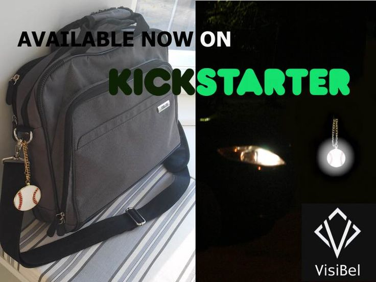 Kick off the baseball season by getting your #VisiBel_Reflective_Accessories on  Kickstarter! https://www.kickstarter.com/projects/visibel/visibel-reflective-accessories
