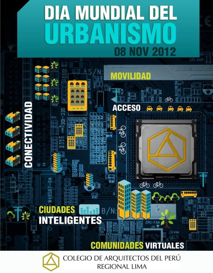 En Perú, hoy conmemoramos el Día Mundial del Urbanismo // 1949 -2012.   Desde 1949, cada 8 de noviembre se celebra el Día Mundial del Urbanismo, fecha destinada para reflexionar en qué ciudad vivimos y cómo queremos que ésta se consolide en el tiempo, sin dejar de lado los elementos naturales que aseguran una mejor calidad de vida en los espacios urbanos. Este día fue instaurado por el ingeniero argentino Carlos Maria della Paolera, quien además fue el primer... @RedCapLima post de…