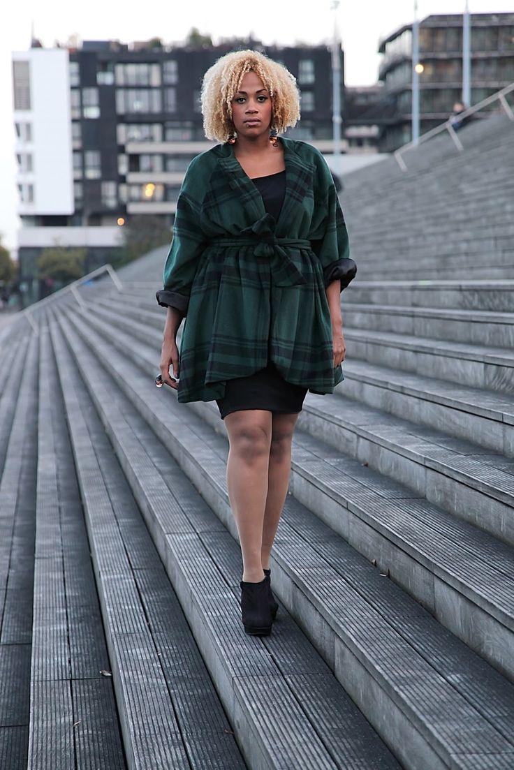 Manteau cape femme ronde