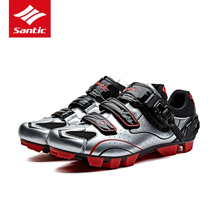 Santic High Quality Mountain Bike Shoes Auto-lock Shoes Breathable PU Bicycle Shoes Sports Sneakers Zapatos ciclismo MTB