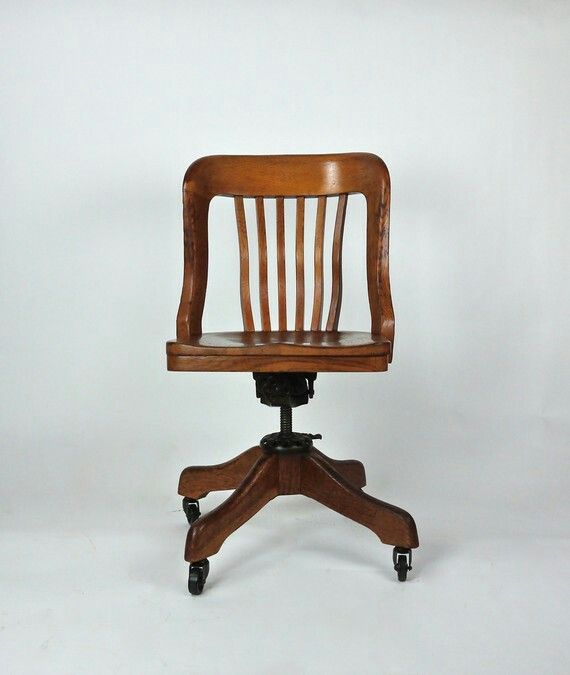 Antique Milwaukee Chair Co Oak Deco Desk Office Library Swivel