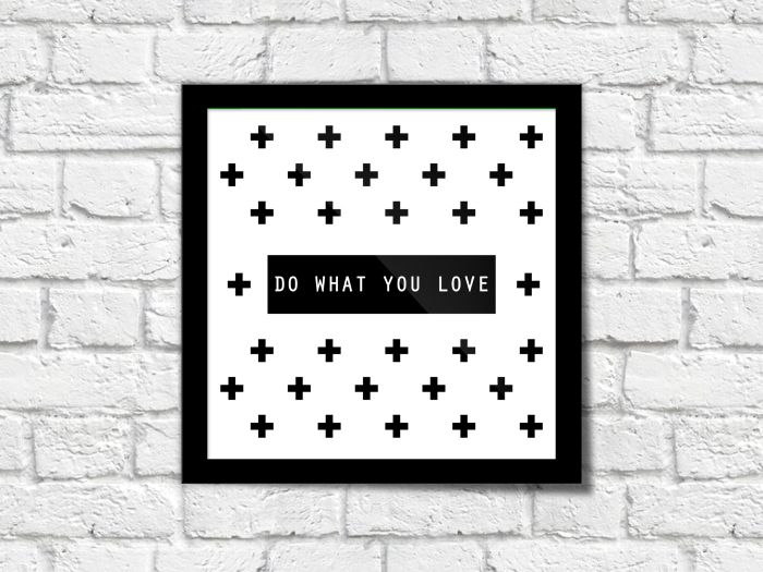 freebie free printable do what you love wall art black white cross