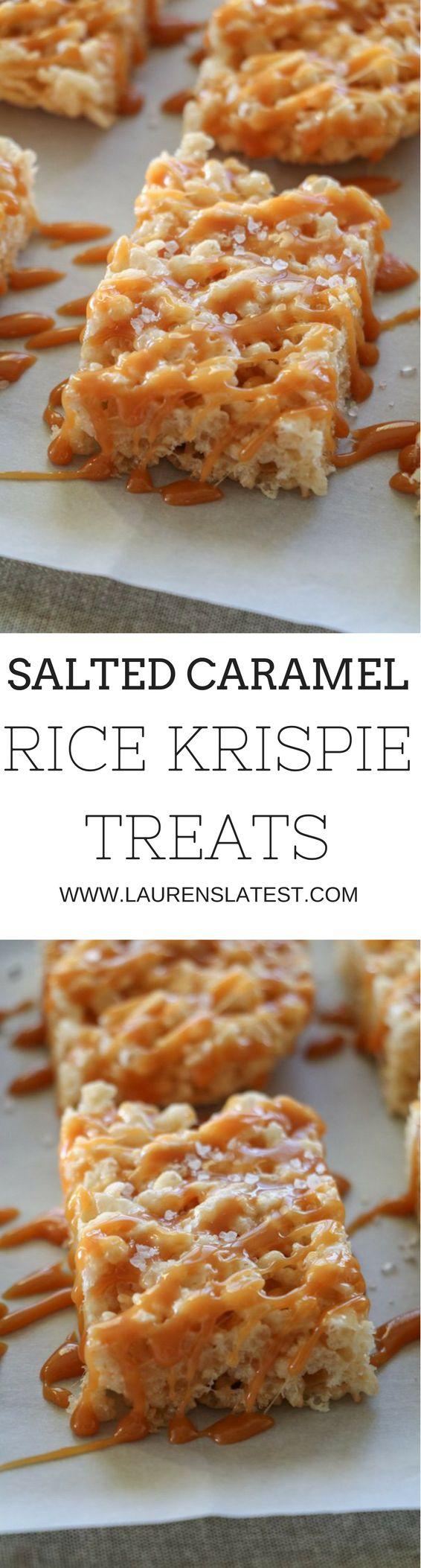 Salted Caramel Rice Krispie Treats...15 minutes to dessert time!