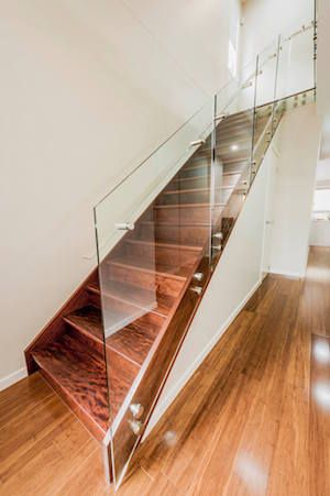 Residential glass staircase in Rochedale