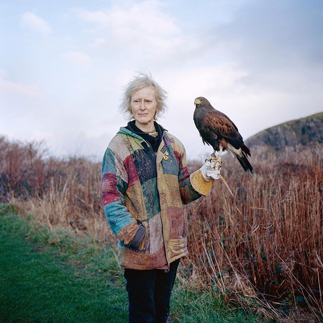 Here is one of the portraits from a recent commission by @avauntmag to shoot a series of images on Easdale Island in Scotland - famous for slate mining. This is Ruth who lives on the island, along with her hawk called Marmalade. You can find the piece in issue 5 of the mag, with a great piece written by @calflyn - out now. #filmisnotdead #easdaleisland #avauntmagazine #jontonks #scotland #portrait #portraitphotography #shootfilm