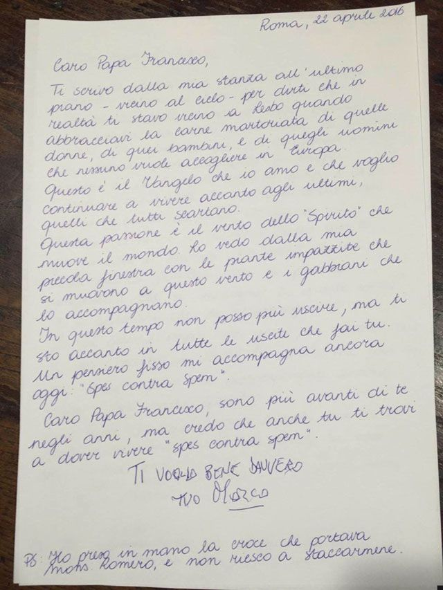 La lettera di Pannella a papa Francesco - Famiglia Cristiana