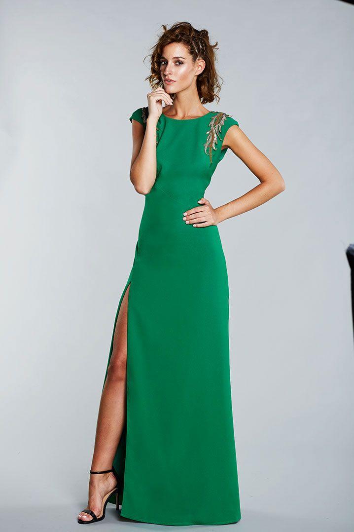 M s de 25 ideas incre bles sobre vestidos de fiesta verde for Boda en jardin como vestir