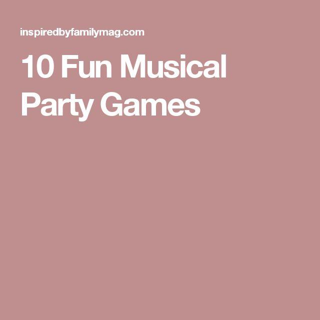 10 Fun Musical Party Games