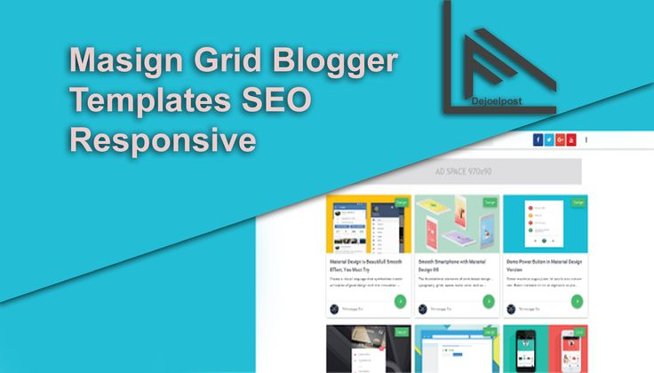 Masign Grid Blogger Templates SEO Responsive
