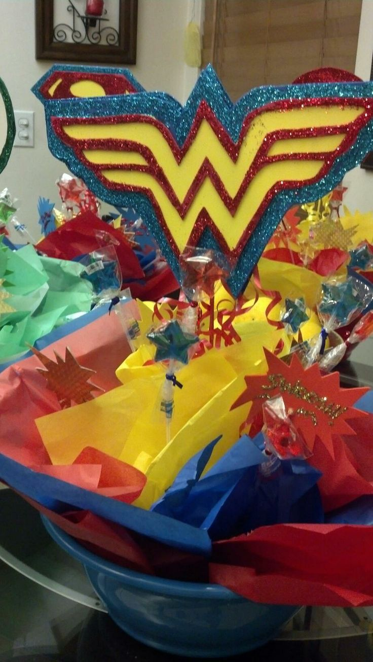 Wonder Woman centerpiece | Superhero Party | Pinterest ...