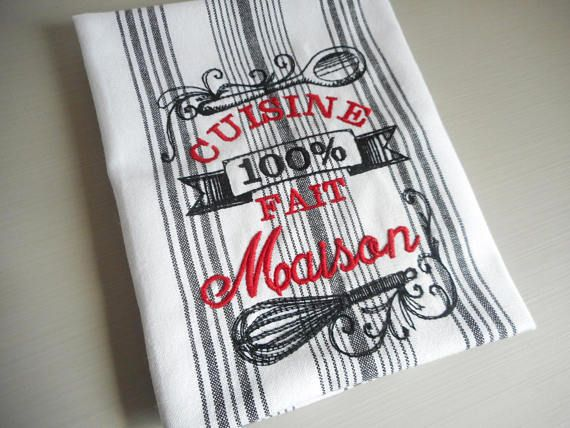 Torchon brod cuisine 100 fait serviettes de toilette serviette de table torchons - Torchon cuisine original ...