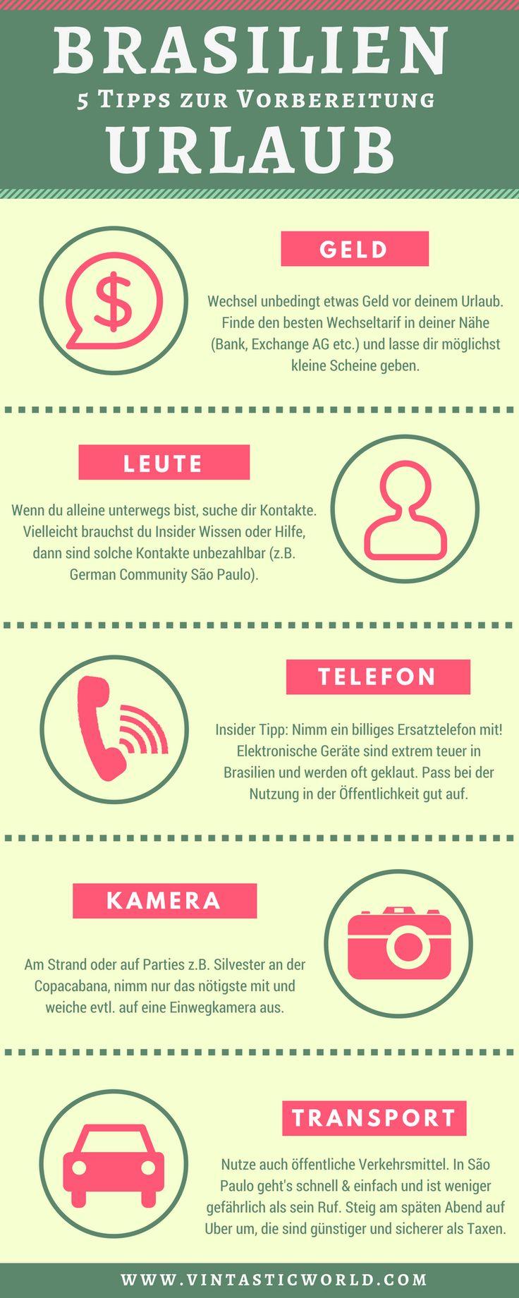 Tipps zur Vorbereitung für Urlaub in Brasilien. Infografik Brasilien Urlaub – Vintastic World: Reiseblog   Reisetipps   Vintage Shopping   Rockabilly   Rock and Roll